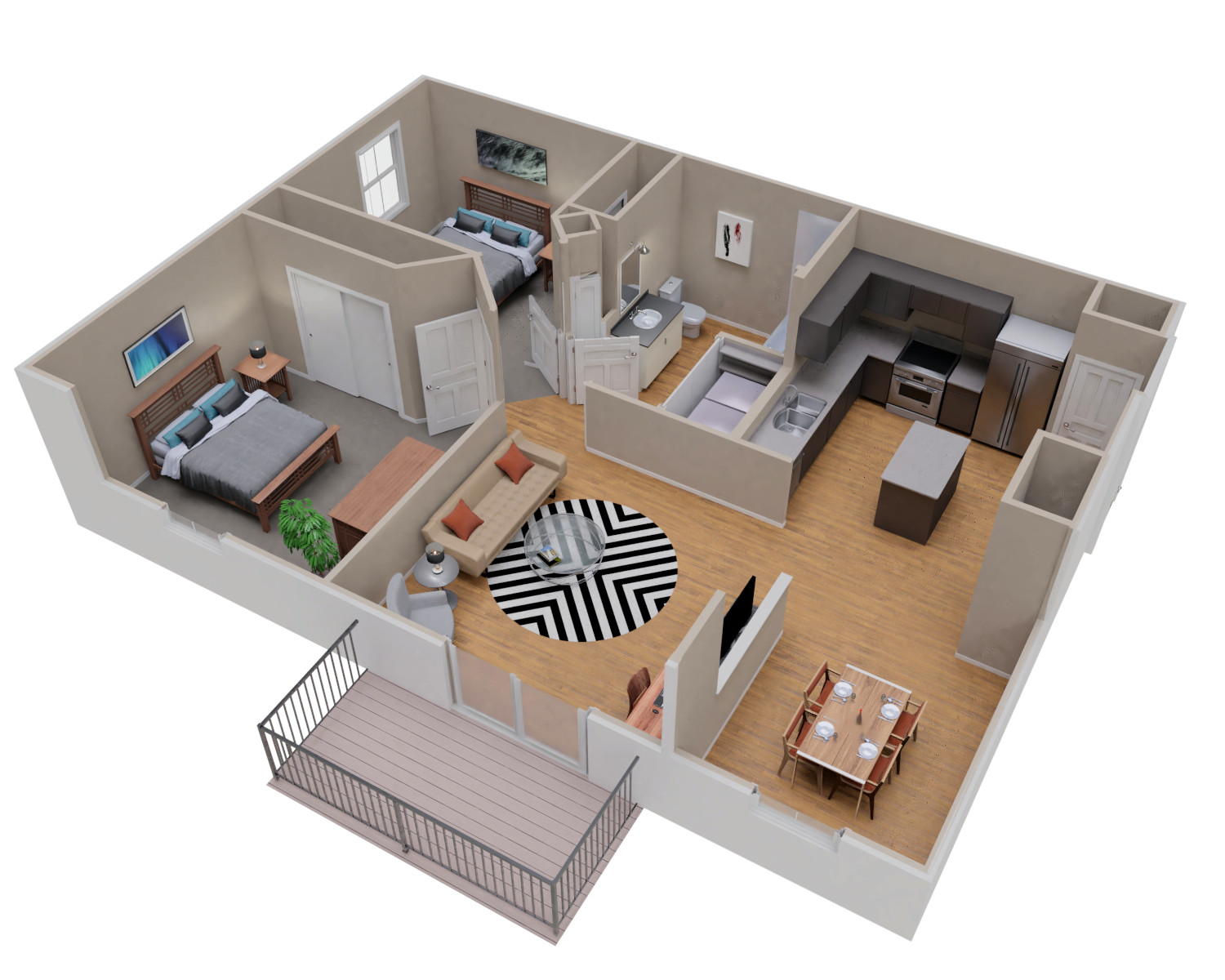 Plank Trail Apartments Floor Plans